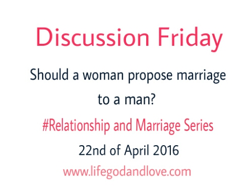 Discussion Friday Is Tomorrow!