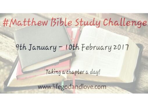 Matthew Bible Study Challenge Starts Tomorrow